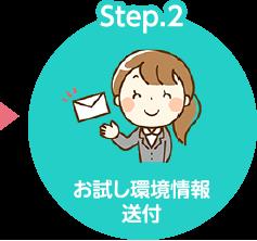 Step.2 お試し環境情報送付